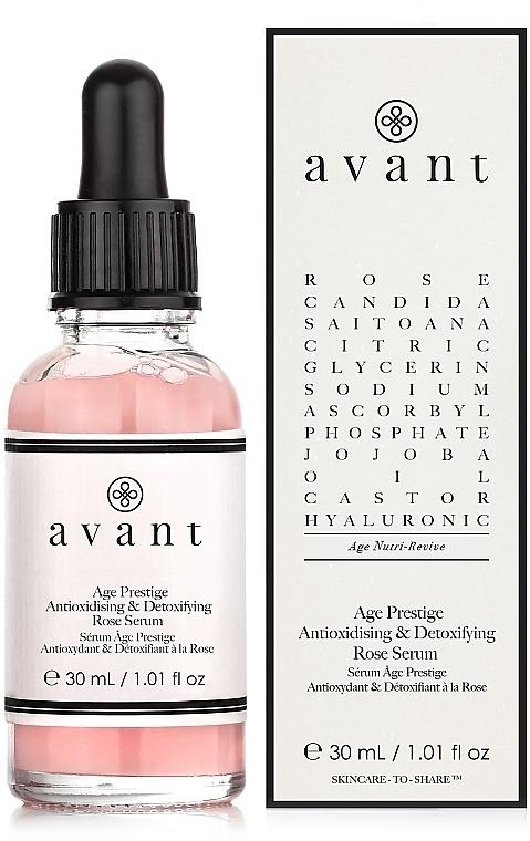 Antioxidatives und entgiftendes Gesichtsserum mit Rosenextrakt - Avant Age Prestige Antioxidising & Detoxifying Rose Serum — Bild N1