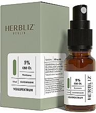Düfte, Parfümerie und Kosmetik Mundspray Olivenfrische 5% - Herbliz CBD Olive Fresh Oil Mouth Spray 5%