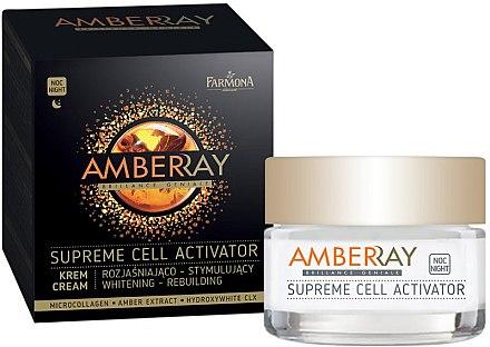 Zellaktivierende und aufhellende Nachtcreme - Farmona Amberray Night Cream — Bild N1