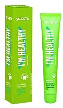 Düfte, Parfümerie und Kosmetik Natürliche Zahnpasta zur Vorbeugung von Zahnfleischerkrankungen - Spasta I Am Healthy Toothpaste