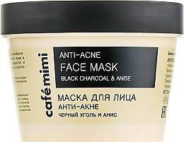 Düfte, Parfümerie und Kosmetik Anti-Akne Gesichtsmaske mit schwarzer Kohle und Anis - Cafe Mimi Face Mask
