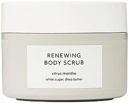 Düfte, Parfümerie und Kosmetik Erneuerndes Körperpeeling mit weißem Zucker und Sheabutter - Estelle & Thild Citrus Menthe Renewing Body Scrub