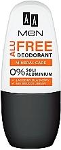 Düfte, Parfümerie und Kosmetik Deo Roll-on - AA Men Alu Free Mineral Care Deodorant