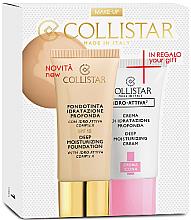 Düfte, Parfümerie und Kosmetik Make-up Set - Collistar Deep Moisturizing Biscult (Gesichtsgrundierung 30ml + Gesichtscreme 25ml)