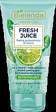Düfte, Parfümerie und Kosmetik Detox grobkörniges Gesichtspeeling mit bioaktivem Zitronenwasser - Bielenda Fresh Juice Peel