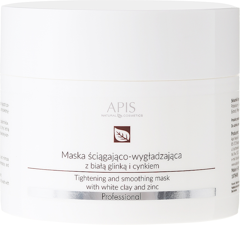 Gesichtsmaske mit weißem Ton und Zink - APIS Professional Tightening And Smoothing Mask