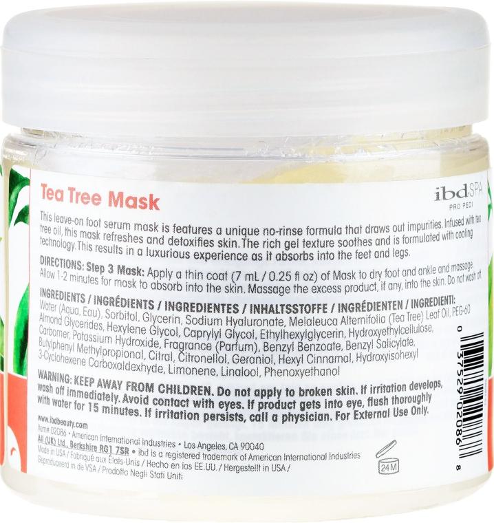 Reinigende und entzündungshemmende Fußmaske mit Teebaumextrakt - IBD Tea Tree Purify Pedi Spa Mask — Bild N2