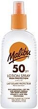 Düfte, Parfümerie und Kosmetik Sonnenschutzlotion für den Körper mit Vitamin E und Aloe Vera SPF 50 - Malibu Sun Lotion Spray High Protection Water Resistant SPF 50