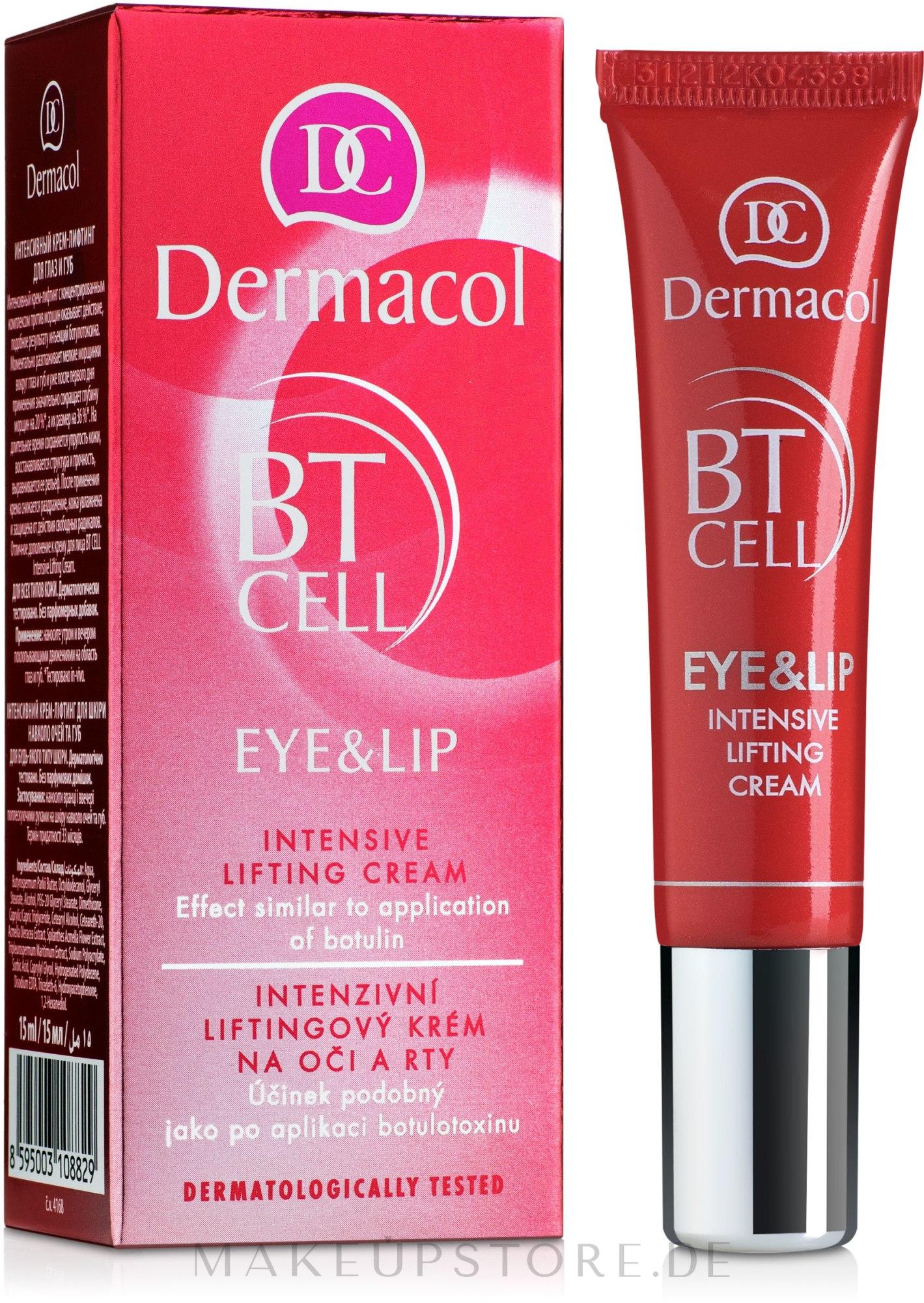 Intensive Lifting-Creme für Augenpartie und Lippen - Dermacol BT Cell Eye&Lip Intensive Lifting Cream — Bild 15 ml
