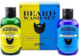 Haarpflegeset - Golden Beards Beard Wash Set (Shampoo 100ml + Conditioner 100ml) — Bild N2