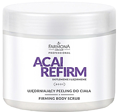 "Düfte, Parfümerie und Kosmetik Anti-Cellulite Körperscrub ""Tropical Mix"" - Farmona Professional Acai Refirm Firming Body Scrub"