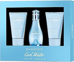 Düfte, Parfümerie und Kosmetik Davidoff Cool Water Woman - Duftset (Eau de Toilette 30ml + Körperlotion 50ml + Duschgel 50ml)