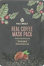 Düfte, Parfümerie und Kosmetik Tuchmaske für das Gesicht mit Kaffee-Extrakt - Pax Moly Real Coffee Mask Pack