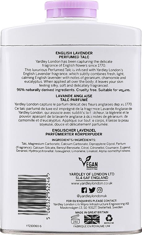 Yardley English Lavender Perfumed Talc - Parfümierter Talk mit Lavendel — Bild N2