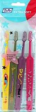 Düfte, Parfümerie und Kosmetik Zahnbürste für Kinder gelb, grün, violett, rosa 4 St. - TePe Kids Extra Soft