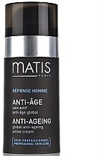 Düfte, Parfümerie und Kosmetik Anti-Aging Gesichtscreme - Matis Reponse Homme Global Anti-Aging active cream