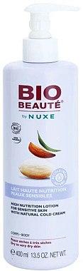 Reichhaltige und feuchtigkeitsspendende Körpermilch für empfindliche Haut mit natürlicher Cold Cream - Nuxe Bio Beaute High Nutrition Lotion — Bild N3