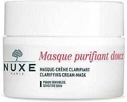 Düfte, Parfümerie und Kosmetik Reinigungscrememaske mit Rosenblütenblättern für Gesicht und Hals - Nuxe Clarifying Cream-Mask With Rose Petals