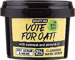 Düfte, Parfümerie und Kosmetik Peeling-Maske für das Gesicht mit Haferflocken und Mandelöl - Beauty Jar Vote For Oat! Cleansing Mask-Scrub