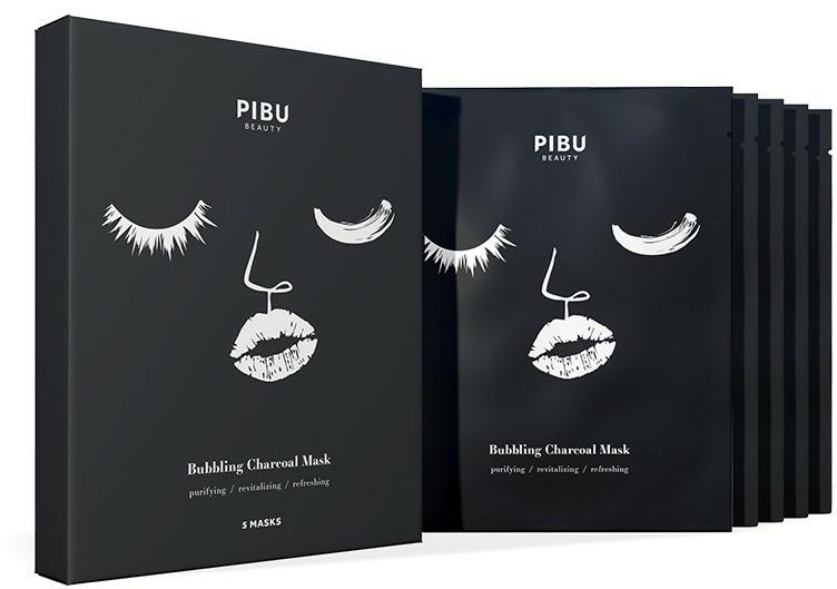 Gesichtspflegeset - Pibu Beauty Bubbling Charcoal Mask Set (Gesichtsmasken 5x27g) — Bild N1