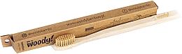 Düfte, Parfümerie und Kosmetik Bambuszahnbürste mittel Natural beige - WoodyBamboo Bamboo Toothbrush Natural