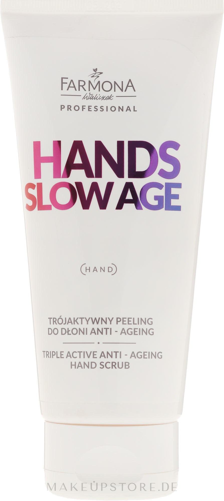 Anti-Aging Handpeeling - Farmona Professional Hands Slow Age Triple Active Anti-Ageing Hand Scrub — Bild 200 ml