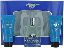 Ford Mustang Blue - Duftset (Eau de Toilette 100ml + Duschgel 100ml + After Shave Balsam 75ml) — Bild N2