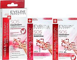 Düfte, Parfümerie und Kosmetik Paraffin-Handbehandlung mit Handschuhen - Eveline Cosmetics Hand Nail Therapy Professional SOS