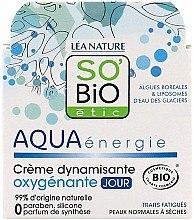 Düfte, Parfümerie und Kosmetik Dynamisierende Sauerstoffreiche Tagescreme - So'Bio Etic Aqua Energie Dynamizing Oxygenating Day Cream