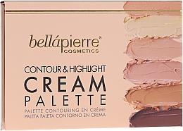 Düfte, Parfümerie und Kosmetik Konturpalette für das Gesicht - Bellapierre Cosmetics Contour & Highlight Cream Pelette