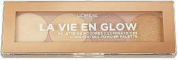 Düfte, Parfümerie und Kosmetik Highlighter-Palette - L'Oreal Paris La Vie En Glow Highlighting Powder Palette