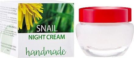 Nachtcreme mit Schneckenschleim-Extrakt - Hristina Cosmetics Handmade Snail Night Cream — Bild N1