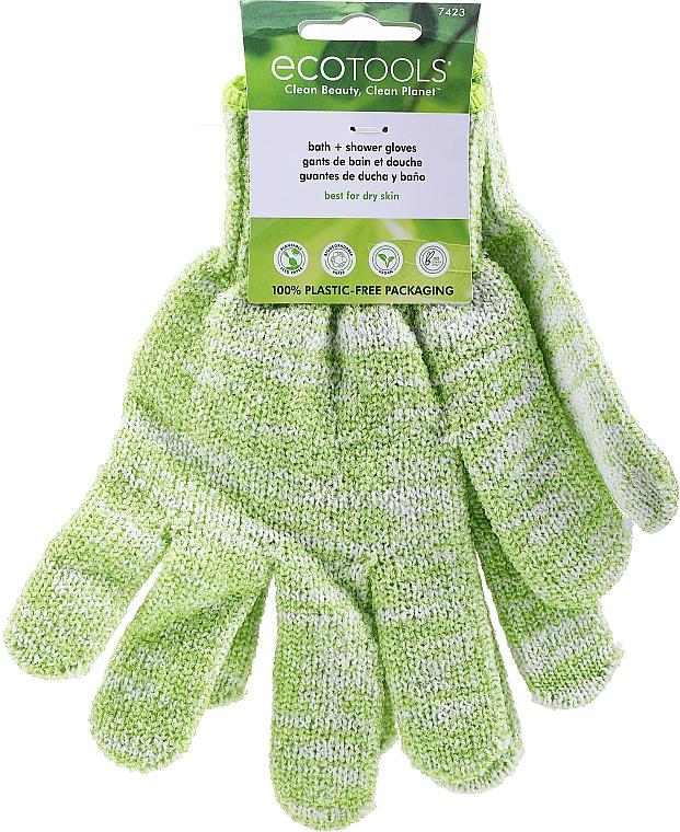 Bade-Handschuhe für trockene Haut grün - EcoTools Recycled Bath & Shower Gloves Guantes — Bild N1