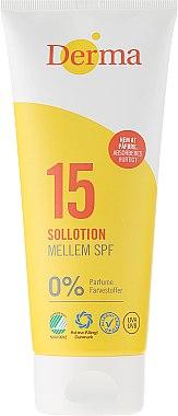 Sonnenschutzlotion SPF 15 parfümfrei - Derma Sun Lotion SPF 15 — Bild N1