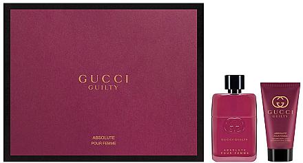 Gucci Guilty Absolute Pour Femme - Duftset (Eau de Parfum/50ml + Körperlotion/50ml) — Bild N1