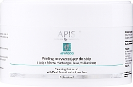 Düfte, Parfümerie und Kosmetik Reinigendes Fußpeeling mit Salz aus dem Toten Meer und vulkanischer Lava - Apis Professional Api-Podo