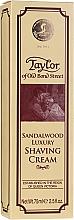 Düfte, Parfümerie und Kosmetik Luxuriöse Rasiercreme mit Sandelholzduft - Taylor Of Old Bond Street Sandalwood Luxury Shaving Cream (Tube)