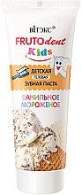Düfte, Parfümerie und Kosmetik Fluoridfreies Kinderzahnpasta-Gel mit Vanilleeis-Geschmack - Vitex Frutodent Kids