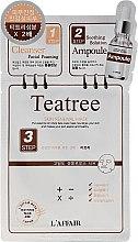 Düfte, Parfümerie und Kosmetik 3-Schritt-Gesichtsmaske mit Teebaumöl - Rainbow L'Affair 3-Steps Skin Renewal Face Mask Teatree