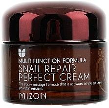 Düfte, Parfümerie und Kosmetik Reparierende und feuchtigkeitsspendende Gesichtscreme für trockene Haut mit Schneckenextrakt - Mizon Snail Repair Perfect Cream