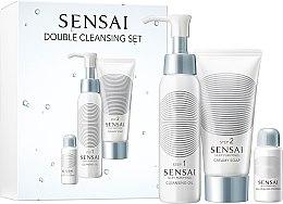 Düfte, Parfümerie und Kosmetik Gesichtspflegeset - Kanebo Sensai Silky Pur Double Cleansing Set (Reinigungsöl 75ml + Cremeseife 75ml + Gesichtspeeling 5g)
