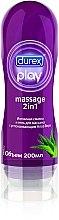 Düfte, Parfümerie und Kosmetik Sanftes, wasserbasiertes 2in1 Massage- und Gleitgel mit Aloe Vera - Durex Play Massage 2in1
