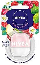 Düfte, Parfümerie und Kosmetik Lippenbalsam mit Himbeer- und rotem Apfelduft - Nivea Pop-Ball Raspberry & Apple Lip Balm