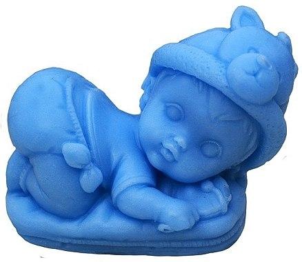 Handgemachte Naturseife Jesuskind auf dem Kissen hellblau - LaQ Happy Soaps — Bild N1