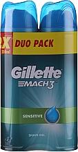 Düfte, Parfümerie und Kosmetik Set Rasiergel - Gillette Mach3 Complere Defense Sensitive Shave Gel (sh/gel/200ml + sh/gel/200ml)