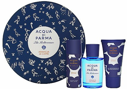 Acqua di Parma Blu Mediterraneo Arancia di Capri - Kosmetikset (Eau de Toilette/75ml + Duschgel/40ml + Körperlotion/50ml) — Bild N1