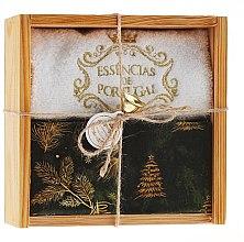 Düfte, Parfümerie und Kosmetik Naturseifen-Weihnachtsgeschenkset - Essencias De Portugal Ancient Soaps Wooden Box Christmas Collection (Handgemachte Naturseifen 2x200g + Handtuch)