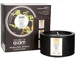 Düfte, Parfümerie und Kosmetik Soja-Duftkerze Oak Moss Sage - House of Glam Raw Black Collection Oak Moss Sage Candle