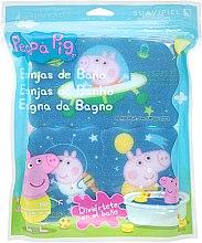 "Düfte, Parfümerie und Kosmetik Badeschwamm-Set ""Peppa Wutz"" Weltraum 3 St. - Suavipiel Peppa Pig Bath Spong"