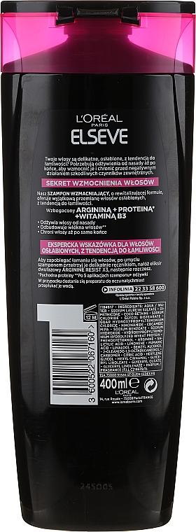 Anti-Haarverlust Shampoo für kraftloses und dünner werdendes Haar - L'Oreal Paris Elseve Shampoo Arginina Resist X3 — Bild N2